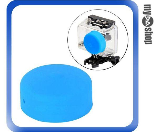 【3件任選88折】GoPro Hero 2 保護殼 矽膠 鏡頭蓋 鏡頭套 藍(83-0049)
