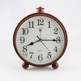 臥室台式鐘錶台鐘創意座鐘家用 鐘擺件客廳靜音時鐘鬧鐘桌面 裝飾 全館免運