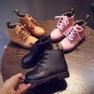 女童靴 秋冬新款兒童馬丁靴男童英倫風皮鞋...