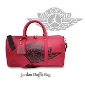 Nike 手提包 Air Jordan Duffle Bag 紅 黑 男女款 喬丹 皮革 斜背 運動休閒 【ACS】 JD2023013AD-002