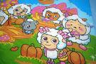 HO KANG 授權卡通品牌 雙人涼被~喜羊羊 開心農場藍