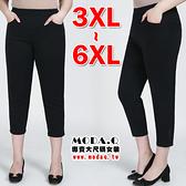*MoDa.Q中大尺碼*【L4273】超顯瘦大彈力立體線條設計口袋八分褲