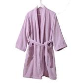 浴袍金號純棉浴衣日式和風浴袍家居服 男女款情侶系帶式素色吸水A類標  伊蘿