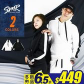 帽T-單線條情侶套裝帽T-情侶休閒套裝款《004K06》共2色【現貨+預購】『SMR』