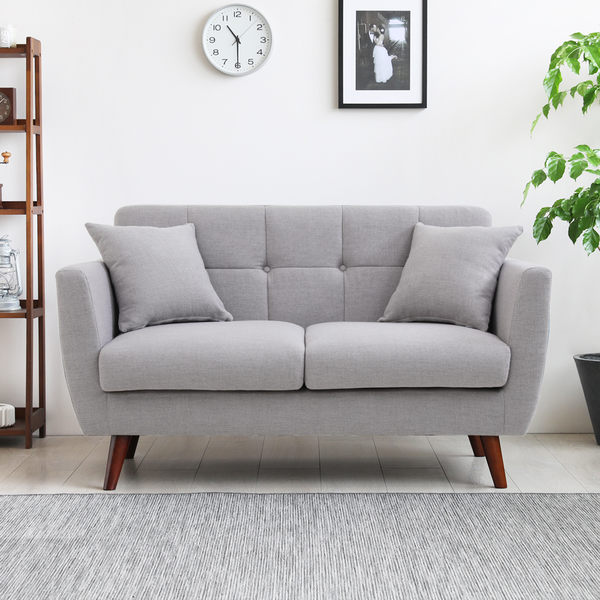 雙人座 唐納德日式簡約拉扣造型雙人布沙發/3色/H&D東稻家居