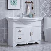 歐式浴室櫃組合落地式仿古衛浴櫃衛生間洗臉盆小戶型洗手池洗漱台MBS「時尚彩虹屋」