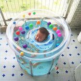 嬰幼兒童支架游泳池加厚家用寶寶充氣游泳池嬰兒游泳桶省水可折疊 潮流前線