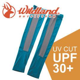 【Wildland 荒野 中性開洞抗UV透氣袖套 《土耳其藍》】W1801/春夏款/抗UV/防曬袖套★滿額送