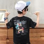 男童短袖T恤 2019新款夏裝中大童韓版兒童寶寶打底衫男生寬松潮