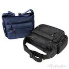 側背包男士防水尼龍包牛津帆布休閒旅行大容量斜背包中老年學生包