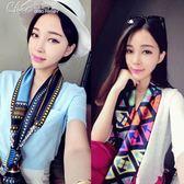 2件290 絲巾 春季小絲巾女士百搭韓國小領巾圍巾長條絲帶領結領帶細窄「Chic七色堇」