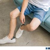 《KL0479-》後腰鬆緊字母刺繡水洗牛仔五分短褲 OB嚴選