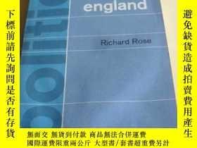 二手書博民逛書店英文原版罕見英國政治 1964年版 Politics in England: An interpretation