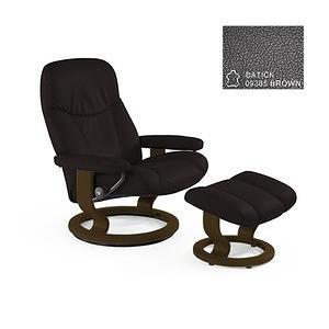 Stressless Consul經典底座舒適椅 咖啡色Brown核桃色底