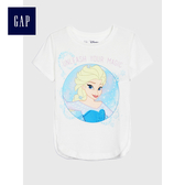 Gap女幼童Gap x Disney 迪士尼系列冰雪奇緣印花短袖T恤487356-冰雪白
