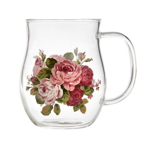 日本【紀念玫瑰 Anniversary Rose】耐熱寬馬克杯
