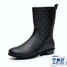 中筒女雨鞋 雨靴成人防滑膠鞋水靴平底套鞋防水鞋【英賽德3C數碼館】