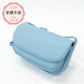 Pries【馬卡龍蛋糕】出遊最適合的牛皮包 - 天空藍