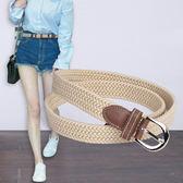 皮帶 韓版女士帆布松緊皮帶女 簡約百搭學生編織細腰帶裝飾牛仔褲腰帶 玩趣3C