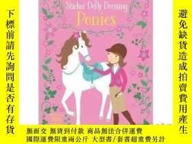 二手書博民逛書店Little罕見Sticker Dolly Dressing Ponies-小貼紙娃娃打扮小馬Y465786