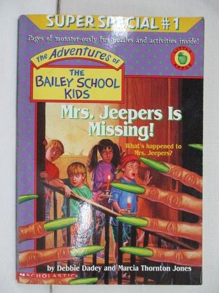 【書寶二手書T1/原文小說_AU5】Mrs. Jeepers Is Missing!_Debbie Dadey