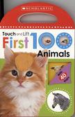 【幼兒觸摸翻翻書】TOUCH AND LIFT FIRST 100 ANIMALS /硬頁翻翻書 《主題:動物》