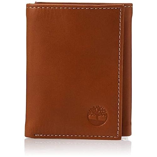 Timberland-時尚ID窗三折皮夾(棕褐色)
