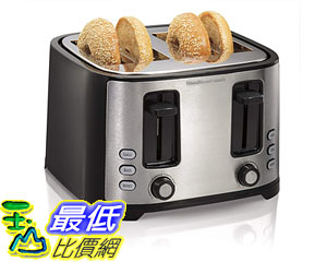 [8美國直購] 烤麵包機 Hamilton Beach Extra-Wide 4-Slice Slot Toaster, Black (24633)