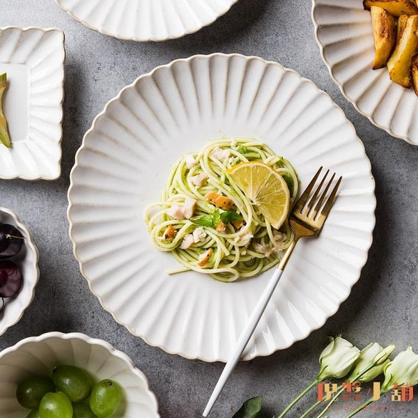 窯變釉陶瓷碗盤餐具家用盤子菜盤碗碟魚湯盤西餐盤【倪醬小舖】