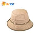 UV100 防曬 抗UV-透氣撞色漁夫帽
