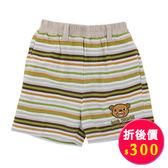 【愛的世界】純棉鬆緊帶橫紋短褲/1歲/4歲-台灣製- ★春夏下著