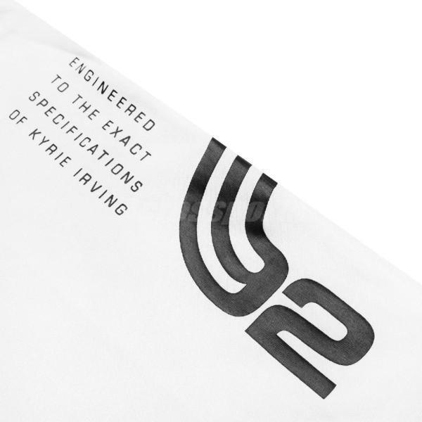 Nike 短袖T恤 Dri FIT Kyrie Basketball Tee 白 紅 男款 短T 運動休閒 【ACS】 CD0928-100
