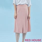 【RED HOUSE 蕾赫斯】俐落剪裁素面寬褲(粉色) 任選2件899元