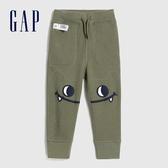 Gap男幼童 三維立體趣味圖案針織長褲 619603-綠色
