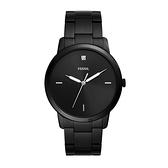 【Fossil】MINIMALIST薄型簡約時尚設計鋼帶腕錶-全黑款/FS5455/台灣總代理公司貨享兩年保固