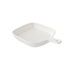 北歐璞真單柄方型烤盤 白(多款顏色可選)
