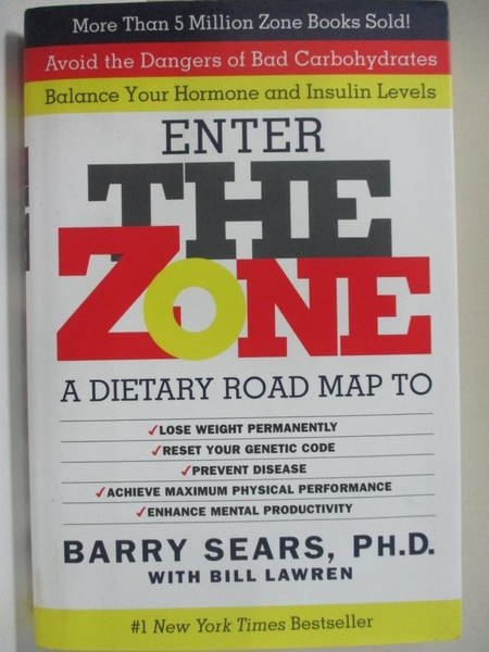 【書寶二手書T1/原文小說_I5U】The Zone: A Dietary Road Map to Lose Weight Permanently