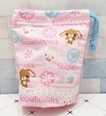 【震撼精品百貨】Sugarbunnies 蜜糖邦尼~三麗鷗蜜糖邦尼塑~縮口袋-圈圈*15415