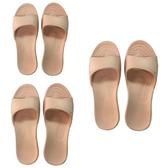 (組)EVA柔軟室內拖鞋 粉橘 S.M.L