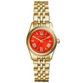 Michael Kors 幸福低喃時尚都會腕錶-紅