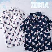 可愛斑馬單口袋襯衫上衣(250226)★水娃娃時尚童裝★