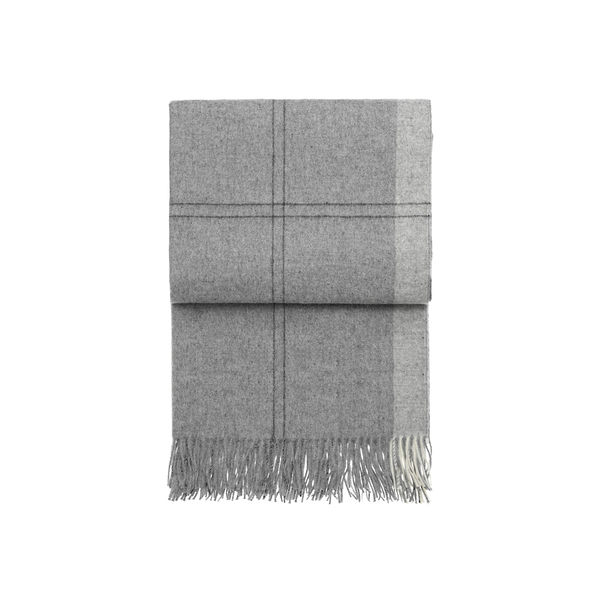 丹麥 Elvang Latitude Alpaca Wool Plaid / Throws 130x200cm 緯度系列 輕量 羊駝毛 披肩 / 蓋毯(岩漠淺灰)