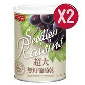 【紅布朗】超大無籽葡萄乾(420g)2入組