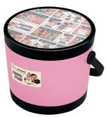 日本 迪士尼 Disney 米奇圓形玩具收納椅/收納箱/兒童椅 蜜桃粉
