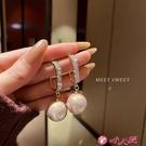 耳環 珍珠耳環新款潮韓國氣質高級感耳墜網紅2021耳飾女冷淡風 小天使 99免運