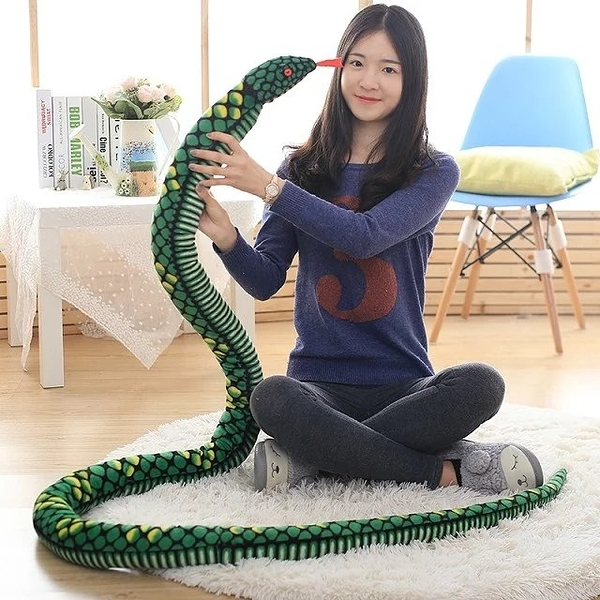 仿真蛇毛絨玩具假軟蛇整人惡搞嚇人道具超大號恐怖公仔玩偶娃娃【快速出貨】