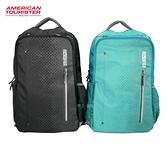 AT美國旅行者 15吋筆電包 輕量後背包 休閒包 American Tourister HB4*09001 (黑/藍綠)