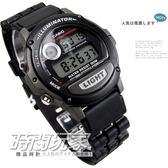 CASIO卡西歐 W-87H-1 黑色橡膠 42mm 男錶 電子錶 鬧鈴 日期 計時碼表 W-87H-1VHDR -87H-1V
