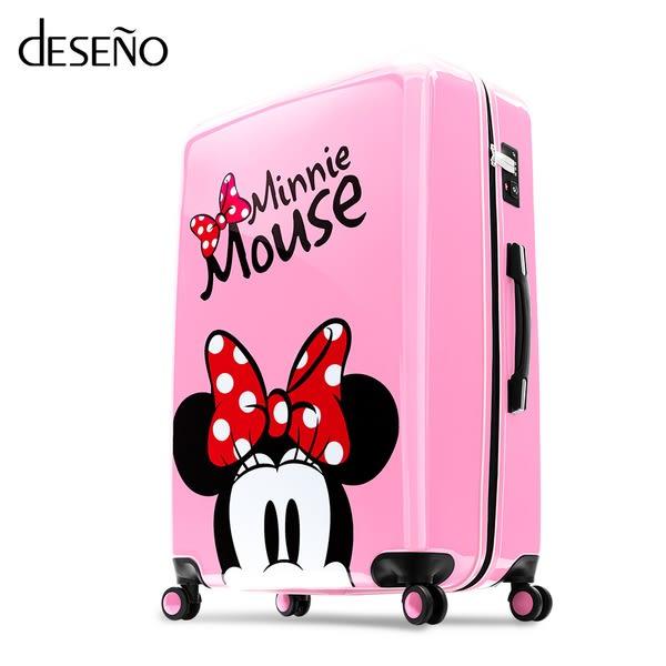 Deseno Disney 迪士尼 米奇米妮 奇幻之旅 繽紛色系 鏡面 拉鍊箱 旅行箱 20吋 行李箱 CL2609