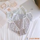 蕾絲內褲3條裝 純棉螺紋花邊性感低腰少女...